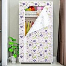 Dormitory single wardrobe Non-woven Fabric Steel frame reinforcement Standing clothe Storage Organizer cabinet bedroom furniture