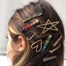 2019 Shining korean hairpins for hair women Girls Side Clip Elegant stars Sweet love sexy Hair Accessories wedding  Jewelry