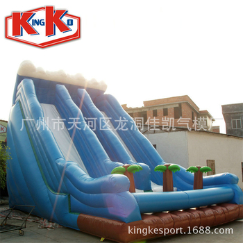 Outdoor Inflatable Playground Game Coco Blue Inflatable High Slide