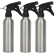 3pcs Aluminum 8oz Spray Water Bottle For Tattoo Machine Gun Kit Set Supply-Silver