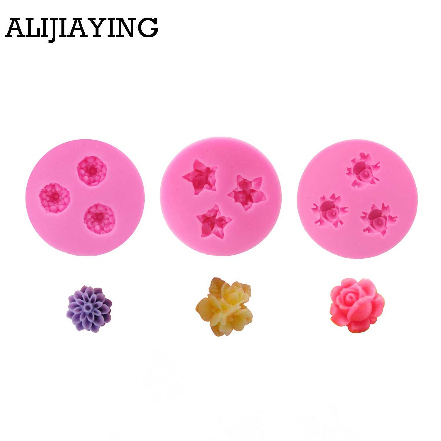 M0212 Flowers chrysanthemum modeling 3D DIY soap /Chocolate/ jelly silicone molds mini flower cake decoration tools