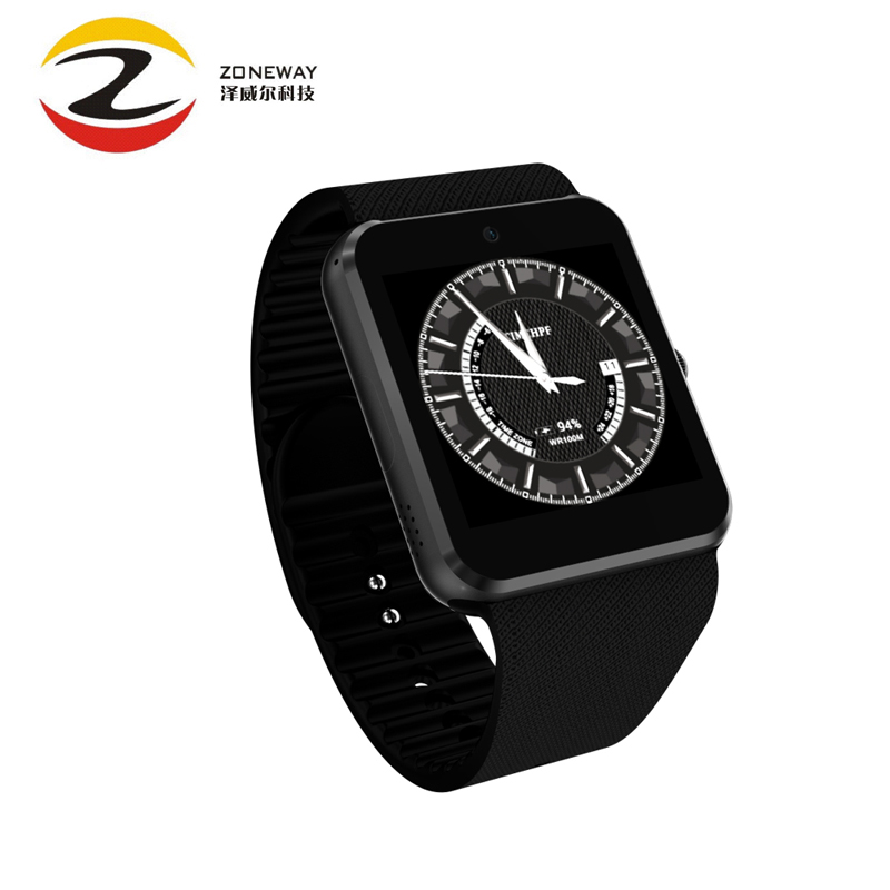 NEUE QW08 Android 4.4 1,54 zoll 3G Smart Watch Phone MTK6572 1,2 GHz Dual Core 512 MB RAM 4 GB ROM Bluetooth 4,0 SmartWatch Pk QW09