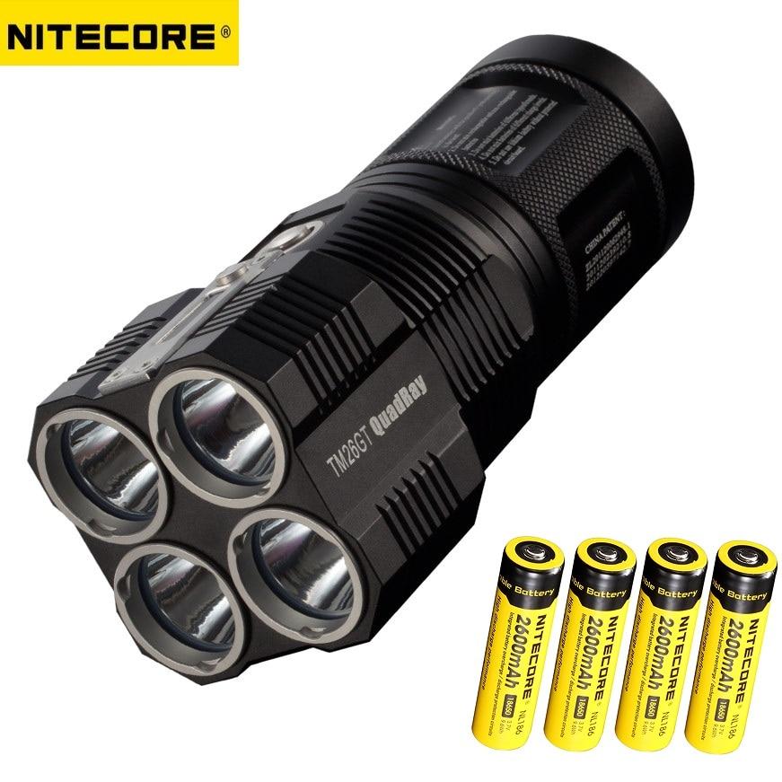 1 Set NITECORE TM26GT 4*CREE XP-L HI V3 LED 3500 Lumens LED Flashlight Torches Beam Distence Torches with16850 Battery nitecore mh25gt 1000lm cree xp l hi v3 led rechargeable flashlight torch
