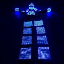 LED Robot suit with LED helmet for stage performance clothing / robot costume