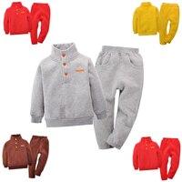 Children S Fleece Sweatshirts Set 1 4T Ferrule Long Sleeve Shirt And Pants Spring Autumn Winter
