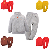 Children's Set 1 4T Ferrule Fleece Sweatshirts Shirt + Pants Spring Autumn Winter Sportswear Boy Girl Children's Clothes