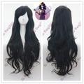 free shipping NEW Homestuck Vriska Serket Long Curly Black Cosplay Hair Wig+a wig cap