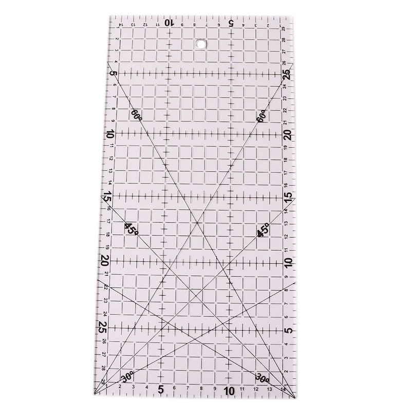 Wholesale Office Stationery School Supplies 1pcs 15 * 30 * 0.2cm Acrylic Material Patchwork Ruler High-grade Sewing Tools