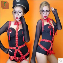 Sexy!bodysuit women night dj Korean women's group jazz dance dress female adult sexy nightclub bar dancers ds dance clothes