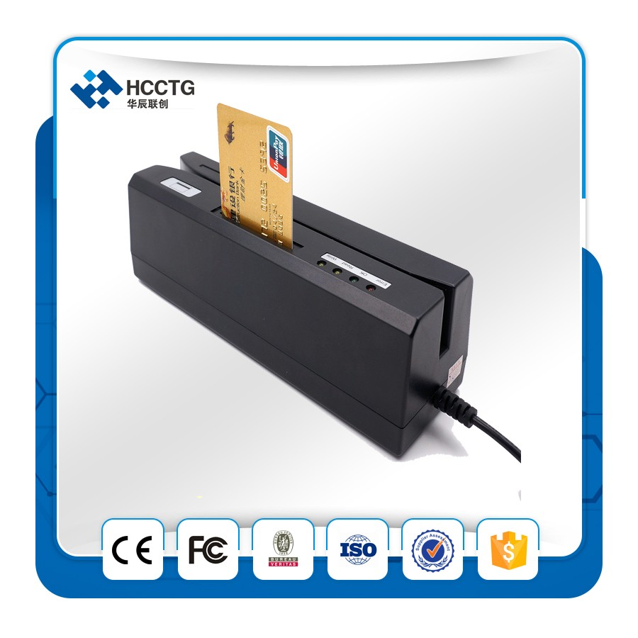 Usb Magstripe 13.56mhz Rfid Ic Chip Card Reader Writer With Psam Card Combo Hcc80 With 10pcs Magnetic Cards Selected Material