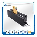 USB Magstripe 13.56MHz RFID IC Chip Card  Reader writer with PSAM Card  combo HCC80