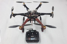 F550 Drone FlameWheel Kit With QQ ESC Motor Carbon Fiber Propellers + RadioLink 6CH TX RX+Tall Landing Skid PTZ FPV F05114-O