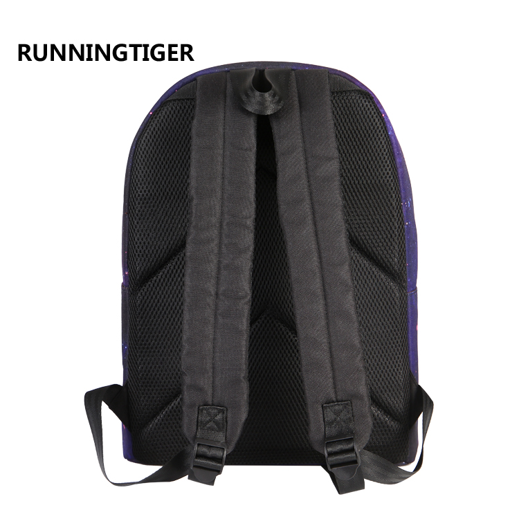 2017 Fresh Nylon Backpack Big Girl Student Book Bag Cute Dog Printing Backpack High Quality Ladies School Bag For Teenager