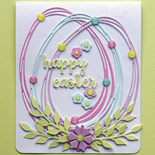 YaMinSanNiO Entwined Egg Metal Cutting Dies New 2019 Easter Day Scrapbooking for Card Making Embossing Stencil Craft