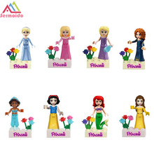sermoido Friends Series Building Blocks Princess Figures Compatible with legoings Friends For Girl 8pcs Bricks Toys цена