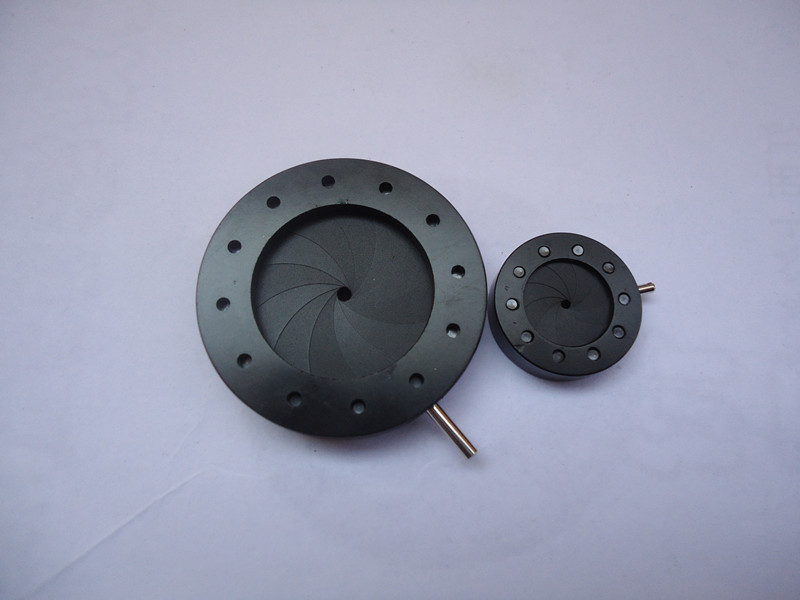 Optical Iris Diaphragm 1-12mm Manual Adjustable Aperture Condenser for Laser, camera, microscope  цены