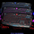 Red/Blue/Purple LED Backlight Illuminated USB Wired Gaming Keyboard PC Laptop