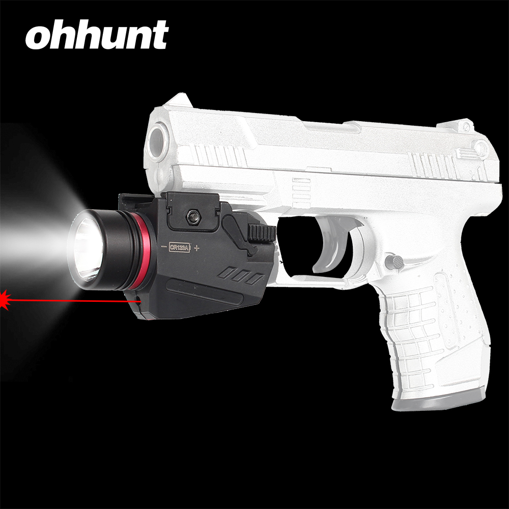 Tactical ohhunt Hunting Red Laser Sight 150 Lumen LED Flashlight Integrated Combo Nylon Material for Weaver Picatinny Rail Mount|Lasers| |  - title=