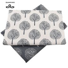 New Printed Cotton Linen Fabric For Patchwork Quilting DIY Sewing Sofa Table Cloth Furniture Cover Tissue Material Half meter