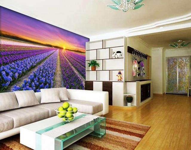 Personalizzato 3d murale carta da parati tv sfondo alba for Carta da parati 3d fiori