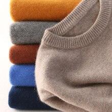 Kaszmirowy bawełniany sweter męski 2020 jesienno-zimowa koszulka Jumper Robe hombre pull homme hiver sweter męski o-neck dzianinowe swetry