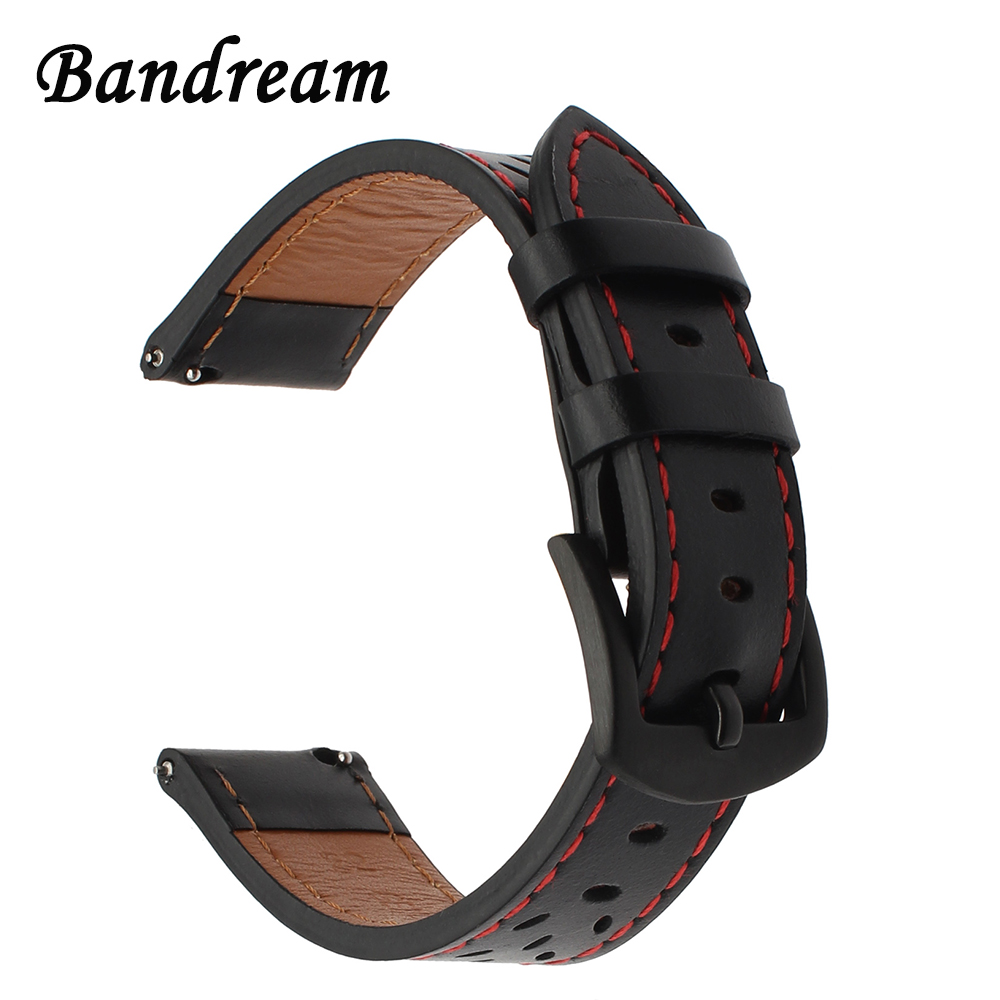 Italy Genuine Calf Leather Watchband for Samsung Gear S3 Classic Frontier Quick Release Watch Band Stainless Steel Buckle Strap