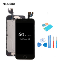 AAA Quality Full Replacement LCD Assembly Touch Screen Digitizer For IPhone 6 6G Home Button Front