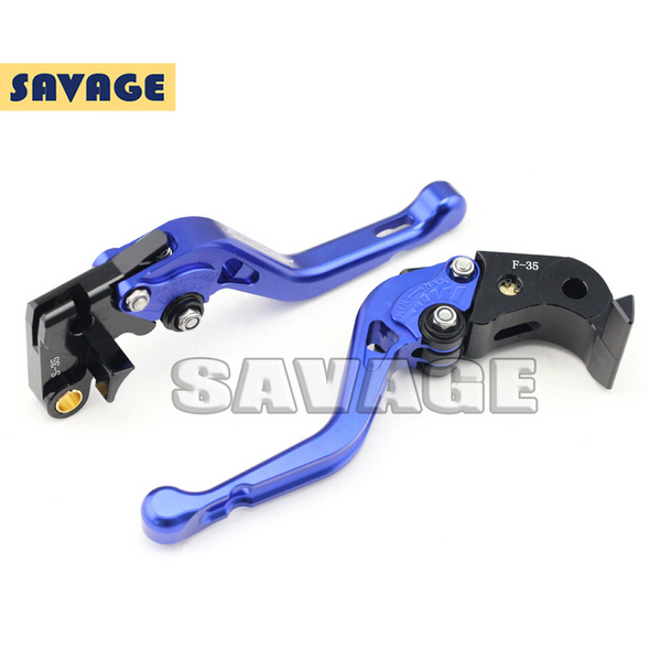 ФОТО For SUZUKI GSX-S 1000 GSX-S 1000F 2015-2016 Blue Motorcycle CNC Billet Aluminum Short Brake Clutch Levers Logo GSX-S1000