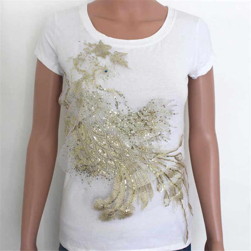 ファッション大パッチレトロフェニックス黄金 suquins Diy 女性刺繍パッチ衣料用高級ストレンジャーもの 3D ステッカー
