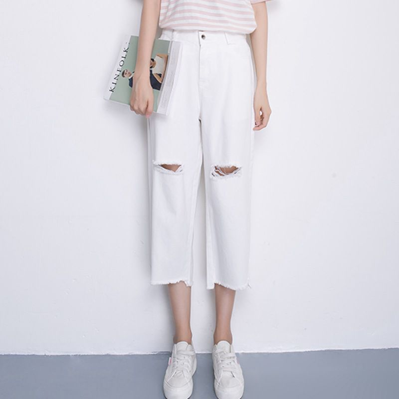 Women's Pockets   Wide     Leg     Pants   Women High Waist   Pants   Trousers Women Loose White   Pants