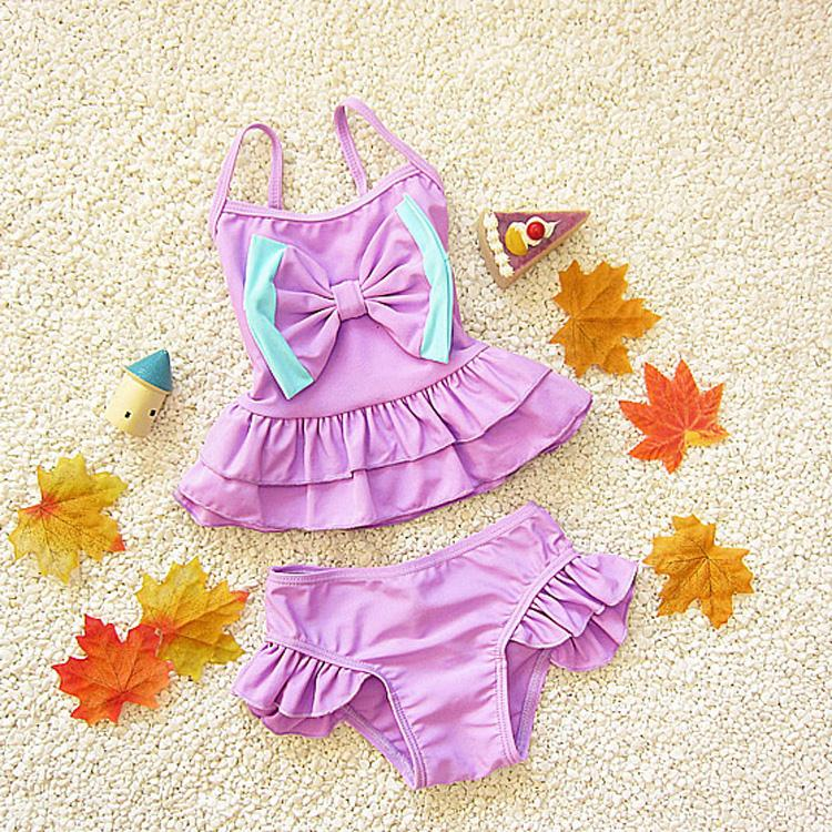 baby girl swimwear fashionable swimsuit children kids bikiny bow toddler swim girls beachwear swimming clothes - Ningbo Yinzhou Chenfeng Garment Factory store