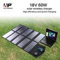 Allpowers 18 v 60 w carregador solar dobrável portable carregador de painel solar para iphone ipad macbook samsung lenovo hp dell e mais.