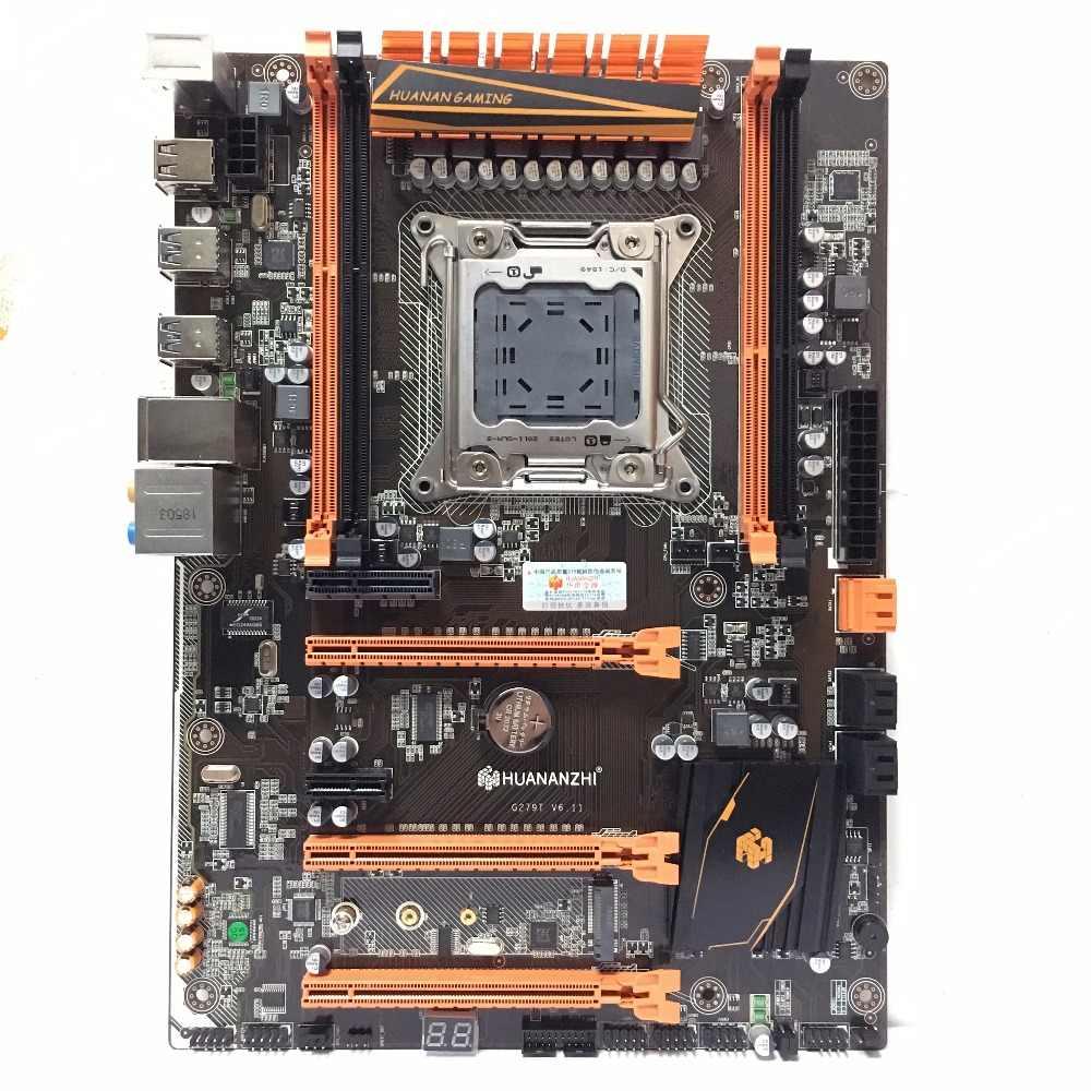HUANANZHI デラックス X79 2011 DDR3 PC デスクトップマザーボードコンピュータコンピュータのマザーボード 3 * PCI-E x16 7.1 サウンドトラック crossfire