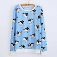 New 2017 Brand Women S Kawaii Clothing Autumn Animal Elephant Swallows Banana Printed Pullover Sweatshirt Cute