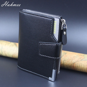 HOT men's leather Wallets men clutch leather zipper bag Coin Purse card holder male short wallet drop shipping