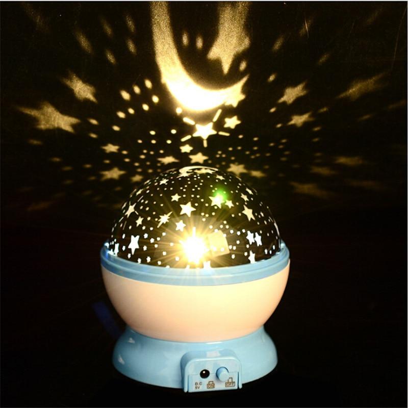 Newest Cosmos Star Master Projector Lamp LED Flashing Starry NightLight Lamp Star Sky Rotation Romantic Gift Novelty Night Light