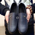 New 2017 Spring Summer Classic fashion men casual shoes breathable Leather surface men flats slip on shoes Casual Zapatos 39-44