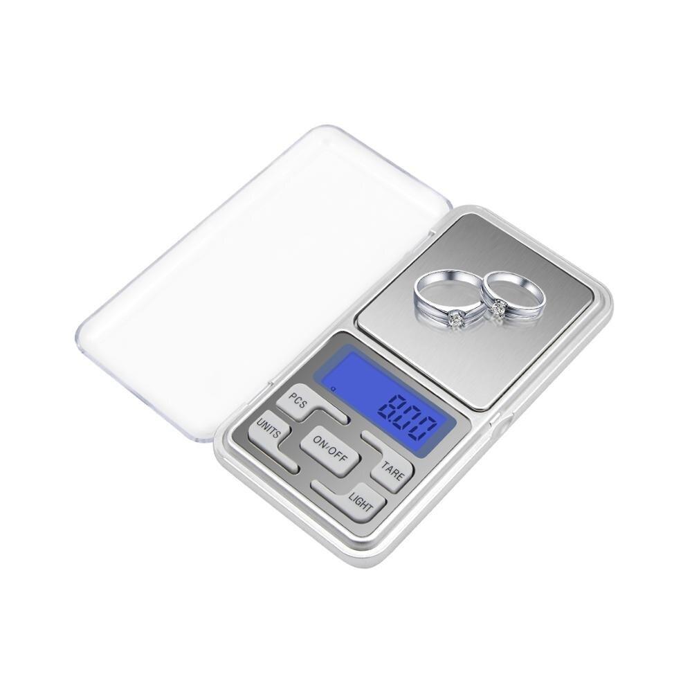 Мини цифровые весы 100/200/300/500g 0,01/0,1 г Высокая точность Подсветка Электрический карман для бриллиантовых ювелирные украшений Вес для Кухня
