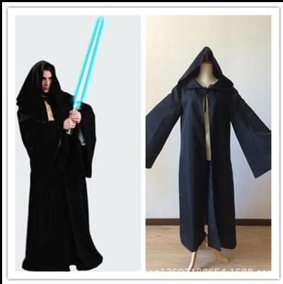 New Arrival Star Wars Jedi Hooded Robe Cloak Cape Costume Adult Men Black Darth-Vader-Costume Halloween Christmas Dress