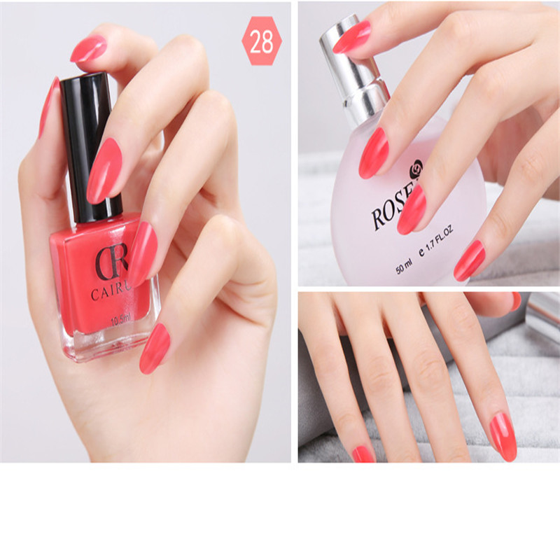 10ml Red Transparent Strong Durable Nail Polish Color UV Cheap GEL ...