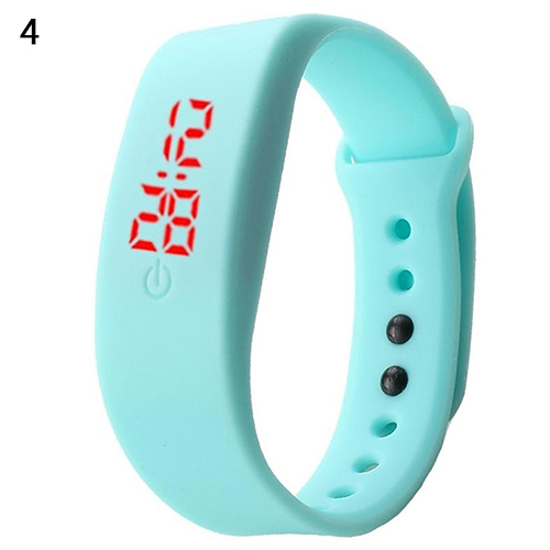 Women Men Silicone Band Strap Digital LED Display Bracelet Wrist Sports Watch(China)