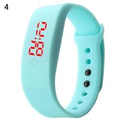 Для женщин Для мужчин силиконовый ремешок цифровой светодиодный выставка браслетов спортивные часы на запястье