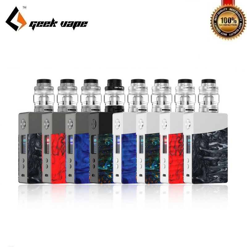 E-Cigarettes Kit Original Geekvape Nova 200W Kit 18650 TC Box Mod with Cerberus Sub Ohm Tank Mesh Coil VS Geekvape Zeus Dual RTA 200w 40 ohm 5