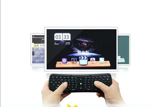 Free Shipping! T3 Fly air mouse Keyboard for Mini PC Android 4.0.4 TV Box WIFI 1080P Media Player Wholesale