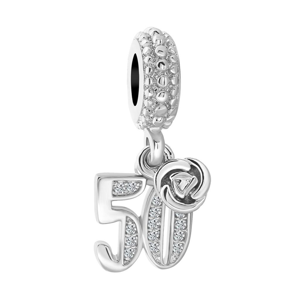 c5108e508f774 US $0.55 40% OFF|New Original Free Shipping European Bead 18 50 60 mom bow  pendant Charm Fit Pandora Bracelet Necklace DIY Women Jewelry Trinket-in ...