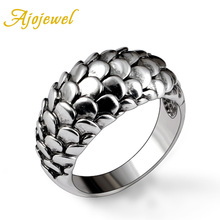 2453 Free Shipping High Quality Fashion Jewelry 18K White Gold Plated Antique Mens Rings