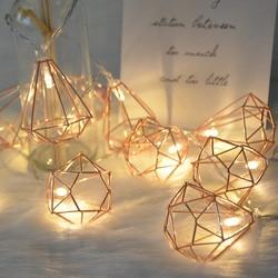 1,5 м/3 м 10/20 светодиодный Ретро металлическая Батарея/USB светодиодный гирлянда фонарь в форме алмаза елка Свадебная вечеринка Декор отдыха ла...