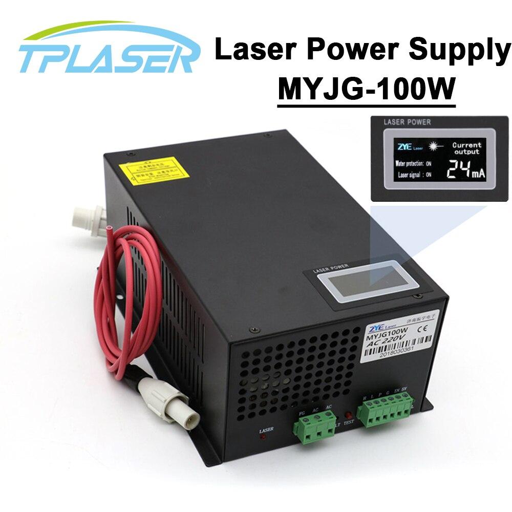 Affichage écran LED CO2 Laser alimentation 80-100 W 110 V/220 V haute tension pour gravure Machine de découpe Laser Tube