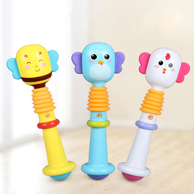 Baby Rattle Toys Animal Hand Bells  Baby Toy High Quality Newbron Gift Animal Style Funny Educational Mobiles Toys Birthday Gif