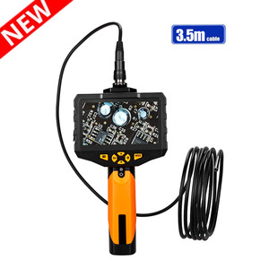 Eyoyo NTS300 Endoscope New Inspection Camera 4.3 Inch LCD Monitor 5.5mm Diameter 3.5 Meters Tube DVR Borescope Zoom Rotate Flip